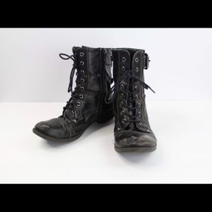 G by Guess Distressed Grunge Combat Boots Size 8.5